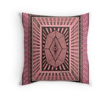 Depth Perception in Pink Throw Pillow