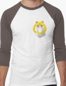 Sailor Moon pocket Men's Baseball ¾ T-Shirt