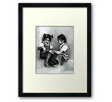 Our First Book Framed Print