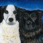Oreo & Buddy (Hound & Aussie Mixes) by AniaMMilo