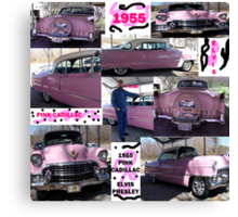 1955, Pink Cadillac, and Elvis Canvas Print