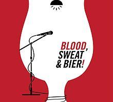 Blood Sweat & Bier by jwillustration