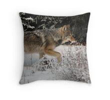 Slick Wolf Throw Pillow
