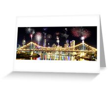 Brisbane Night Show Greeting Card