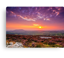Sunset Shropshire Hills Canvas Print