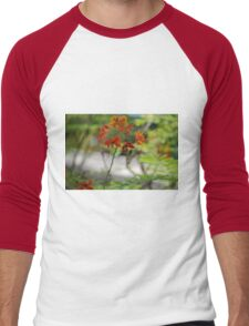 Barbados Spring Theme - Pride of Barbados (Dwarf Poinciana or Flower Fence) If you like, please purchase, try a cell phone cover thanks Men's Baseball ¾ T-Shirt