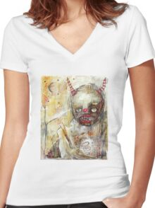 Devil Woman Women's Fitted V-Neck T-Shirt