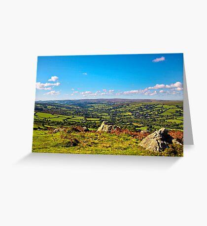 Widdecombe Valley from Bell Tor Dartmoor UK Greeting Card
