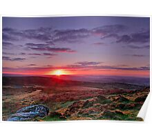 """Sunrise over Teignmouth""   Dartmoor Poster"