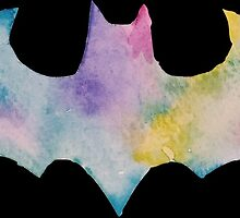 The Bat Watercolor (black) by PeonyPaints