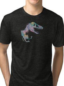 Watercolor Jurassic (black) Tri-blend T-Shirt