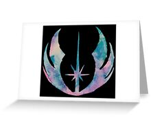 Watercolor Jedi Order (black) Greeting Card
