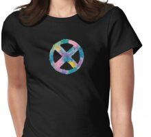Watercolor X-Men (black) Womens Fitted T-Shirt