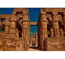 Egypt. Luxor. Luxor Temple. Hypostyle Hall. Photographic Print
