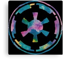Watercolor Galactic Empire (black) Canvas Print