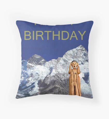 Everest The Scream World Tour Happy Birthday Throw Pillow