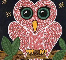 'Owl Heart'  by Lisafrancesjudd