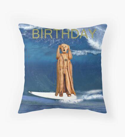 Surfing The Scream World Tour Happy Birthday Throw Pillow