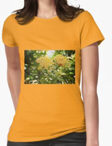 Barbados Spring Theme - Pink Ixora Womens Fitted T-Shirt