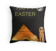 The Scream World Tour Egypt Happy Easter Throw Pillow