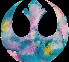 Watercolor Rebel Alliance (black) by PeonyPaints