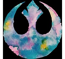 Watercolor Rebel Alliance (black) Photographic Print