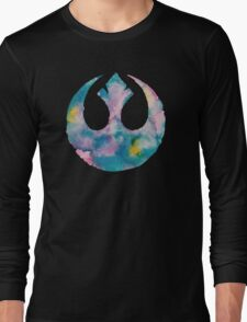 Watercolor Rebel Alliance (black) Long Sleeve T-Shirt