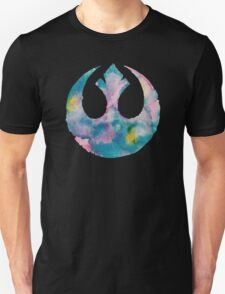 Watercolor Rebel Alliance (black) Unisex T-Shirt