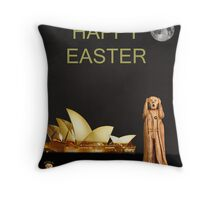 The Scream World Tour Sydney Happy Easter Throw Pillow