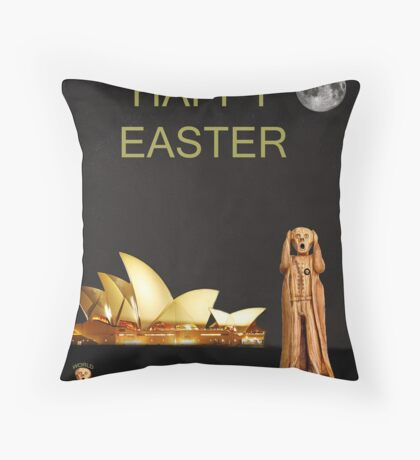 The Scream World Tour Sydney Happy Easter Throw Pillow