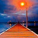 Lighting the Way Down the Wharf - HDR. by bazcelt