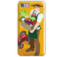 Greengrocer Farmer with Fresh Food iPhone Case/Skin