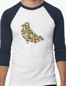 Pomeranian - Animal Art Men's Baseball ¾ T-Shirt