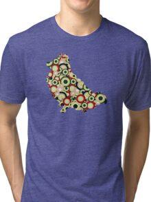 Pomeranian - Animal Art Tri-blend T-Shirt
