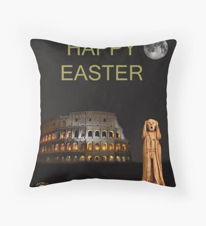 The Scream World Tour Rome Happy Easter Throw Pillow