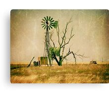 Old Farm Abstract Canvas Print