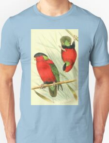 Gorgeous 1912 illustration of Fijian Kula birds T-Shirt