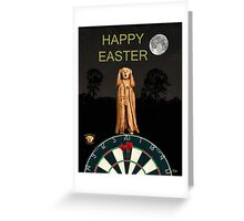 The Scream World Tour Darts Happy Easter Greeting Card