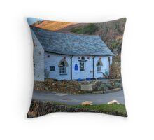 Boscastle Harbour Light Throw Pillow
