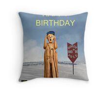 The Scream World Tour North Pole Happy Birthday Throw Pillow