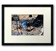 Still Smoking Framed Print