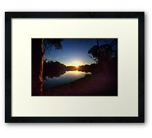 End of a Beautiful Day - The River Murray Above Renmark Framed Print