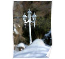 Winter.....Lamp Lights Off... Poster