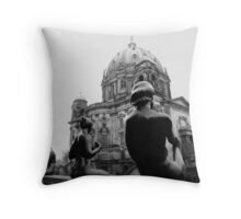 The Four Statues Throw Pillow