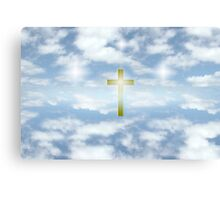 oh heavenly clouds of gold Canvas Print