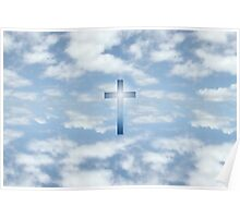 oh heavenly clouds of blue Poster