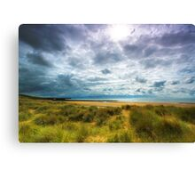 Dune & Fragmented Sky- Freshwater West Canvas Print