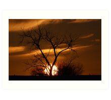 Fireball Sunset Art Print