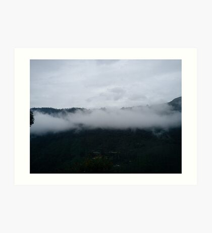 Clouds on Mountain Art Print
