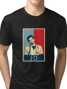 JD Scrubs poster Tri-blend T-Shirt